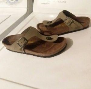 Birkenstock Gizeh Sandle Tan Leather size 37